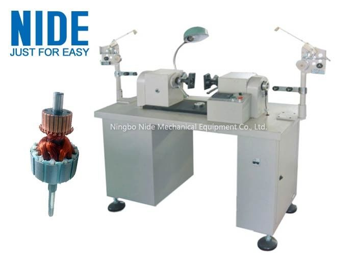 Semi-Auto Small Rotor Armature Wire Coil Winding Machine Low Noise for slot motor wire winding